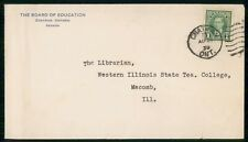 Mayfairstamps Canada 1939 Board of Educ Western Il State Tea College Cover wwf_9