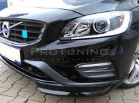 S60R V60R Front Bumper spoiler flaps elerons splitter addon Skirt Corners R Lip