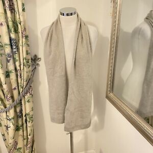 Autograph M&S grey 100% cashmere light weight knitted scarf cosy warm winter