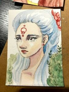 ACEO card- ORIGINAL-girl portrait number 5
