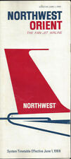 Northwest Orient Airlines system timetable 6/1/68 [0112]