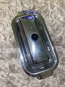 Chrome Butter Dish With Lid & Glass Insert  MCM