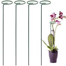 4 Pack Plant Support Stakes Garden Flower Support Stake Steel for Tomatoes Lily