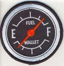 Embroidered Iron-On Cloth Biker Patch ~ Fuel Gauge~
