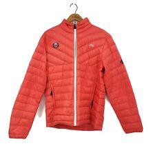 KJUS Ajax Cup Jacket Mens 50/M Aspen AVSC Premium Down Puffer Coral Orange