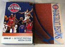 Lot of 2 Detroit Pistons Media Guides Years: 1992-93 & 2006-07 - Great Condition