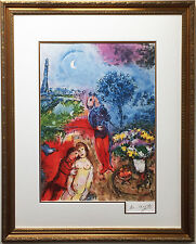 """Serenade"" Marc Chagall RARE OUT OF PRINT- CUSTOM FRAMED  - 25 Color Lithograph"