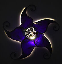 Moroccan Henna Ceiling Light Fixture Goat Skin Fancy Handmade Home Decor Purple