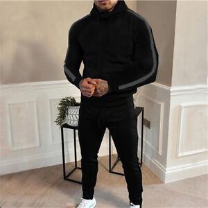 Mens Tracksuit 2 Piece Casual Pants Jacket Sweatsuit Hip Hop sports Set