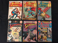 SUPERMAN & ACTION Bronze Age lot of 6 Comics: #277,282,422,431,438,441: Avg GD