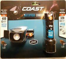 Coast Headlamp Flashlight Combo Pack 400 Lumens Headlamp 320 Lumens Flashlight