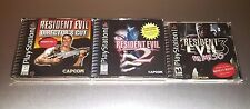 Resident Evil Director's Cut + 2 + 3 Nemesis ☆☆ MINT CASES ☆☆ PS1 Playstation 1