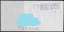 France to Turkey Philatelic Cover ( Plane Airplane ) ( 489 )