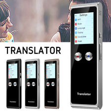 T8s Smart Instant Real Time Voice Text 70 Language Translator+Touch Screen-Black