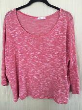 Doublju Sweater Top XL Red Scoop Neck Shirt