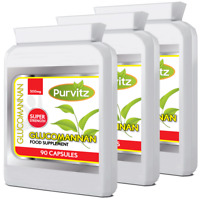 Glucomannan Konjac Fibre 270 Capsules 500mg  Appetite Suppressant Feel Full Diet