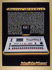 1985 Roland TR-707 Rhythm Composer Drum Machine vintage print Ad