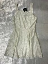 "BNWT "" TOPSHOP "" IVORY FLORAL LACE STRAPPY DRESS - UK 8 ! RRP £30 !"