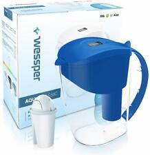 Wessper Wasserfilter AquaClassic + 1 Filterkartusche komp. AQUACLASSIC 3.5L BLAU