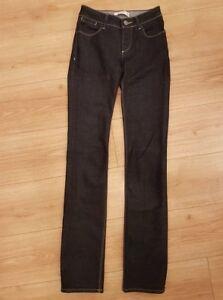 ZARA Woman 34 EUR jeans navy straight leg ladies stretch perfect condition