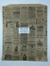 "300 Qty. 12"" x 15"" Newsprint Design Paper Merchandise Bag Retail Shopping Bags"