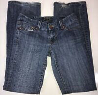 Seven 7 Womens Boot Cut Jeans Embroidered Tag Size 27 Actual 29x31