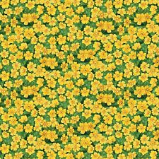 GARDEN GATHERING~Wilmington Prints~BY 1/2 YD~YELLOW DAFFODILS/GREEN~28128-758