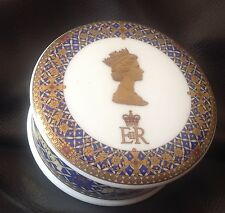 James Sadler The Golden Jubilee Of Her Majesty Queen Elizabeth II Trinket Box