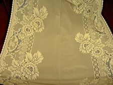 "Drapery floral lace fabric German import craft tablecloth wedding 36"" wide NEW"