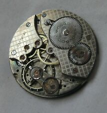 Movado Movement Pocket Watch - 37Mm Diameter - For Repair O Parts - Swiss