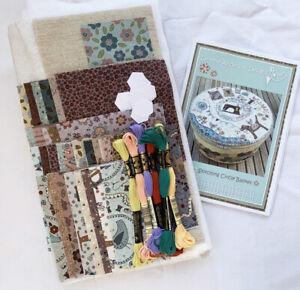Lynette Anderson Stitching Circle Basket Kit -pattern, fabrics, threads etc