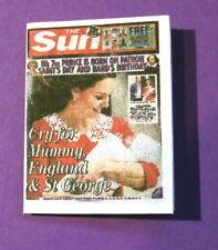 Dollshouse Miniature Newspaper - The Sun Birth of Royal Baby 2018