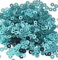 1200 Pailletten 4mm Blau Rund Glatt Perlen Basteln Nähen Dekoration BEST PAI33