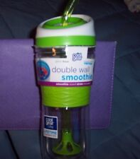 NEW 20 OZ COOL GEAR DOUBLE WALL SMOOTHIE TUMBLER & STRAW BLENDit, FILLit & ENJOY