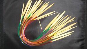 Smooth Bamboo Circular Knitting Needles  Twin Pins