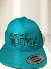 HURLEY Snapback Adjustable Turquoise HAT LID Boy Youth Size