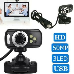 1080P Full HD USB Webcam Clip For PC Desktop Laptop Web Camera With Microphone