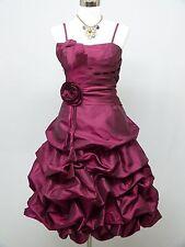 Cherlone Purple Prom Party Ball Evening Wedding Bridesmaid Formal Dress 12-14
