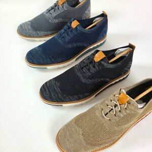 HUSH PUPPIES Taupe Expert Wingtip Knit Sneakers