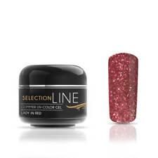 LED UV Farbgel Selection Line Glimmer 5ml Farben Glitzer Rot Töne mittelviskos