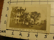 St. Sauveur Rest Home 11 elm st. So Byfield Mass. - RPPC--