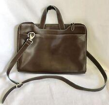 Lodis Leather Briefcase Laptop Bag Women Brown Women's