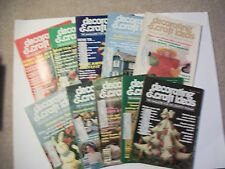 Lot of 10 DECORATING & CRAFT IDEAS 1976-Needlecrafts, painting, glass,beading et