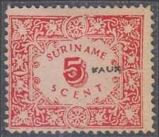 NETHERLANDS SURINAM 1909 Sc 62 PERF 12  1/2 ÇFORGERY UNUSED F,VF