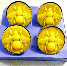 Silicone Tea light candle Mold Honeybee Mould easy release 4 cavity Homemade
