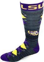 LSU Tigers Charcoal RMC Purple & Yellow Fan Nation Crew Socks