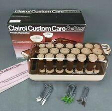 Clairol Custom Care Setter KF-20 Hot Rollers Curlers Velvet Flocked w/ Clips Box