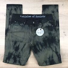 Articles of Society Mya Tundra Green Black Women's Jeans NWT Size W27 L30 (PP13)