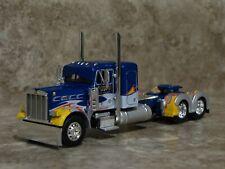 DCP 1/64 Eilen Blue Silver Flames Peterbilt Semi Truck Farm Toy