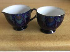 Denby Baroque Milk / Cream Jug and Sugar Bowl